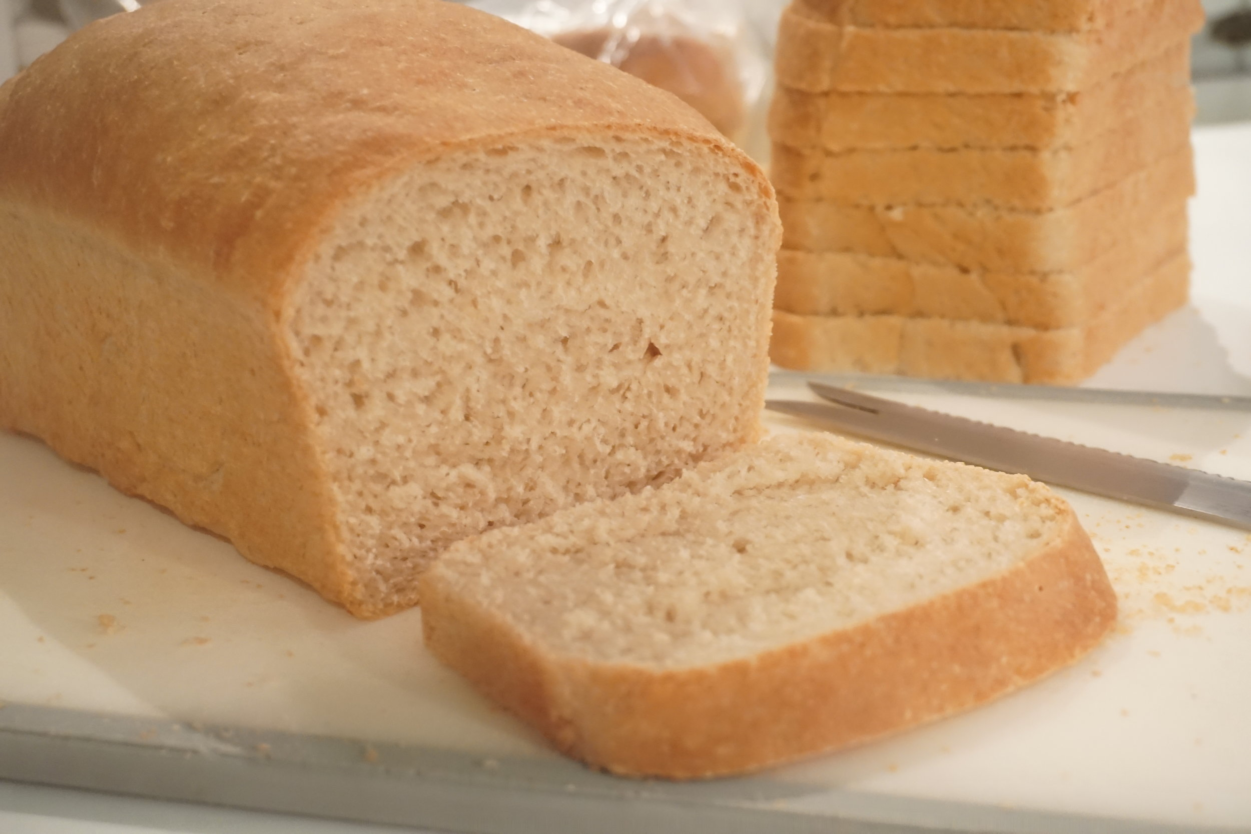 Whole Wheat and White Blend Bread