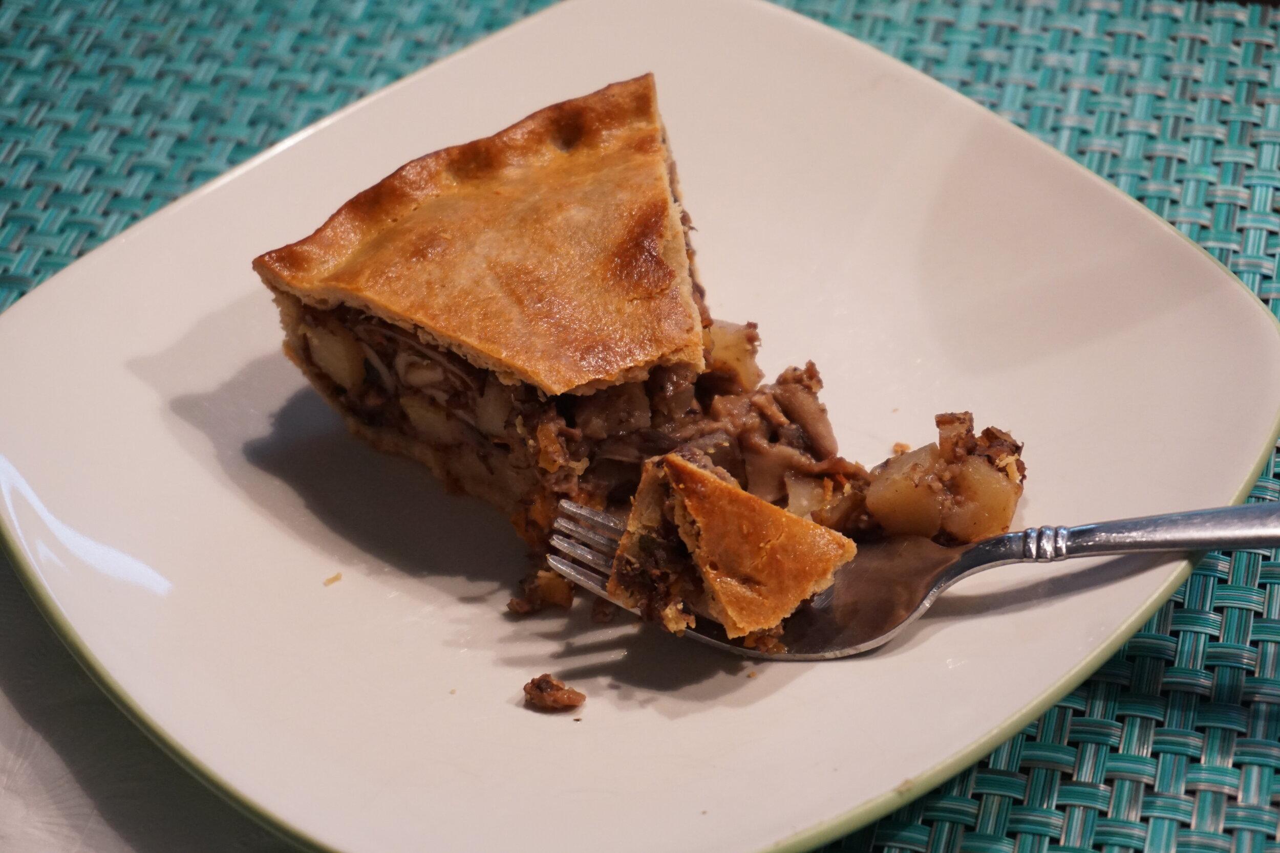 Mushroom Bourguignon Pot Pie