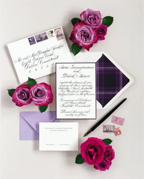 Suite Design: Coral Pheasant  Calligraphy: Joi Hunt