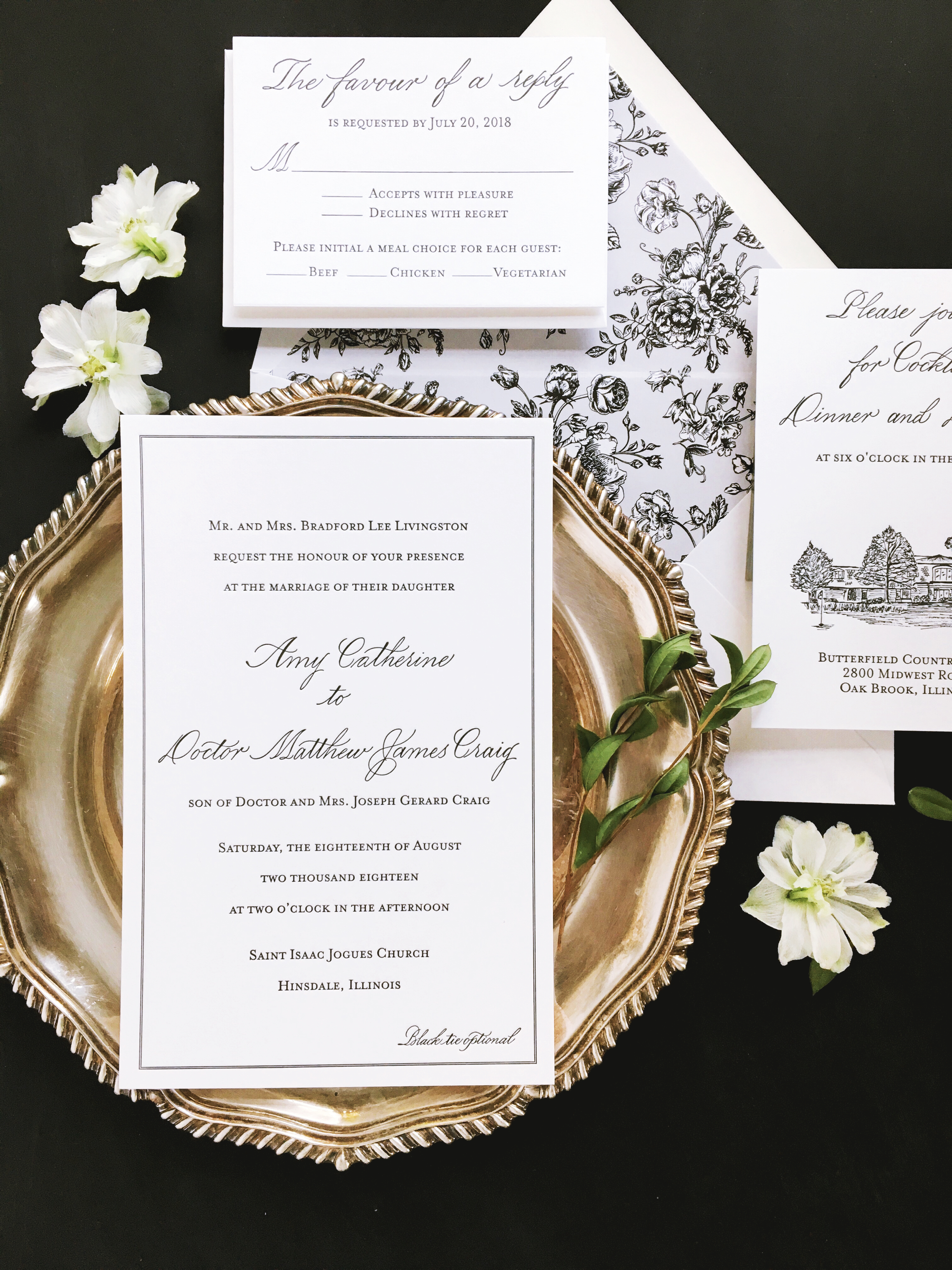 Suite Design and Letterpress Printing:  Letterpress by Lydia  Spot Calligraphy: Joi Hunt