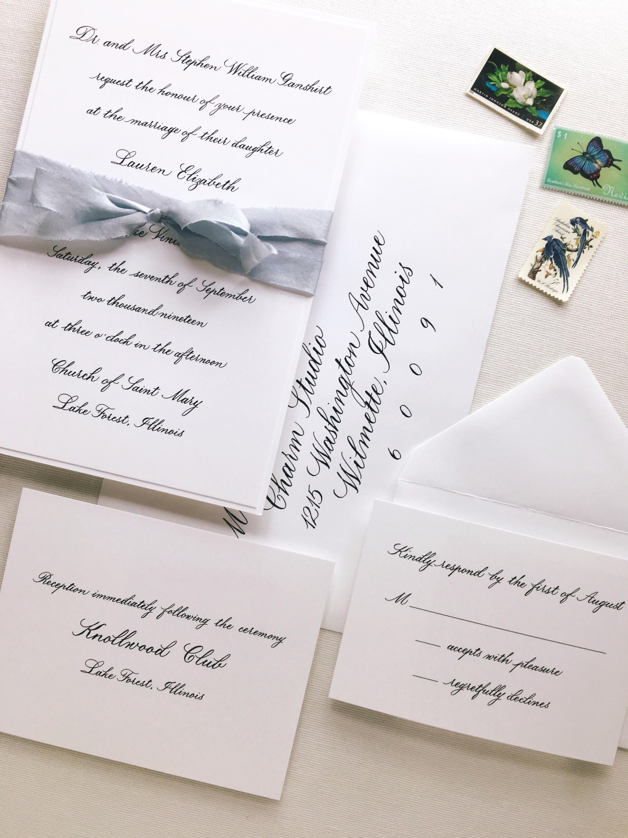 Stationery Design: Charm Studio  Spot Calligraphy & Envelope Addressing: Joi Hunt