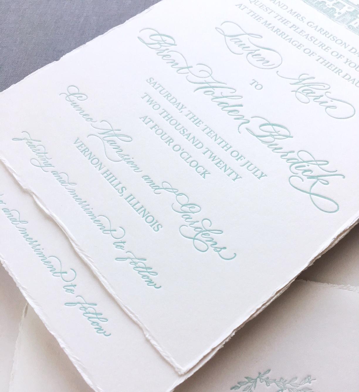 Design and Letterpress:  Letterpress by Lydia  Spot Calligraphy:  Joi Hunt