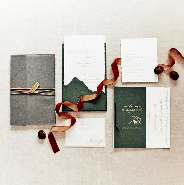 Stationery Design: Poste and Co.  Spot Calligraphy:  Joi Hunt  Photography: Tec Petaja