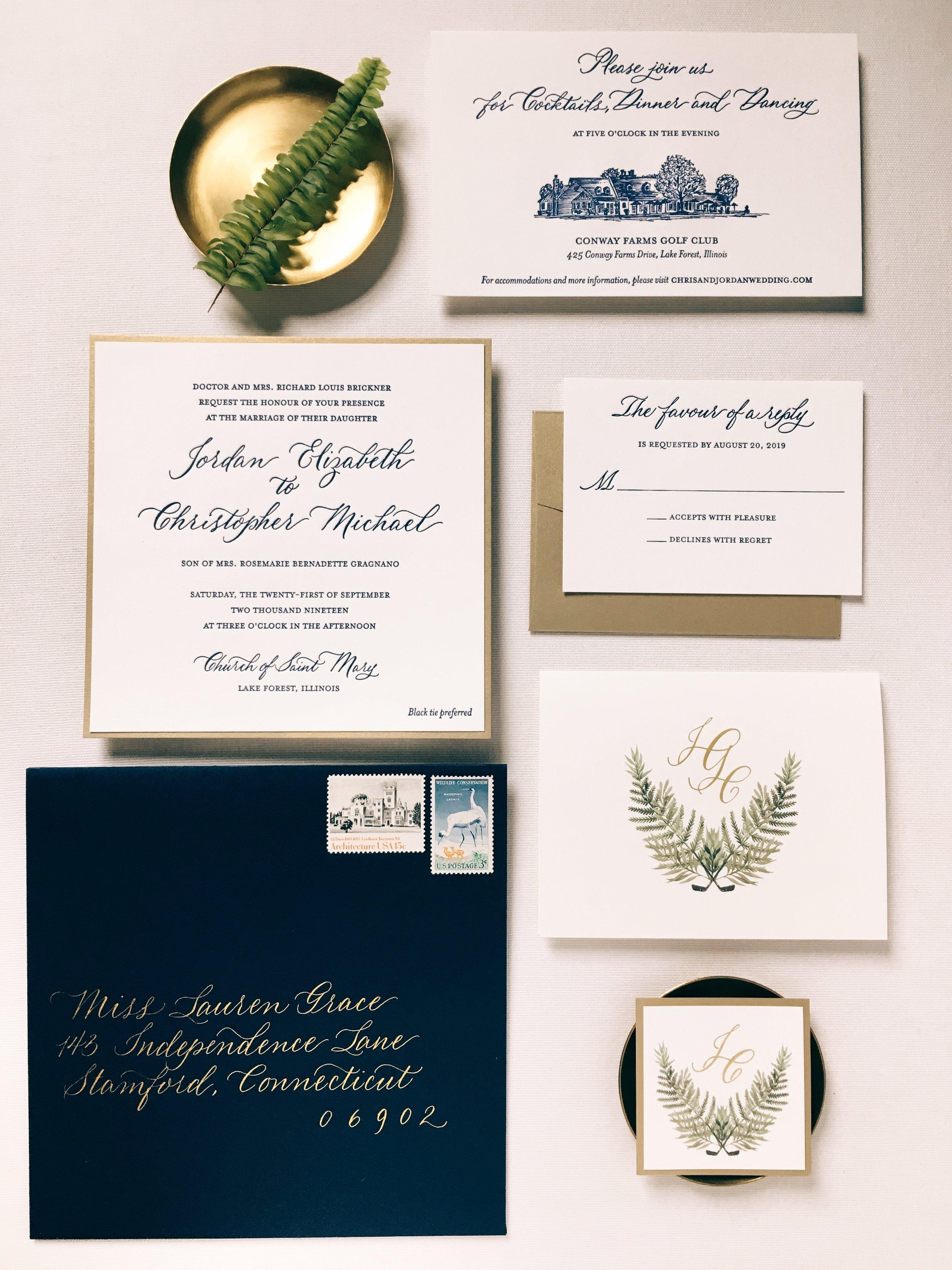 Stationery Design and Letterpress: Letterpress by Lydia  Spot Calligraphy and Envelope addressing: Joi Hunt
