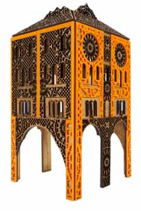 These are small atemporal architectural follies that incorporate different skin patterns from Islamic geometry to Vintage French lace. They were produced while I was an Artist-In-Residence with the Visible Futures Lab at the School of Visual Arts.