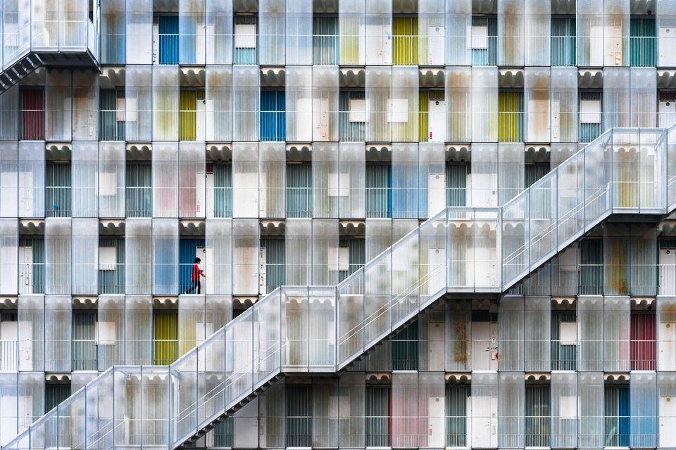 """Colorful Apartment"" by Tetsuya Hashimoto"