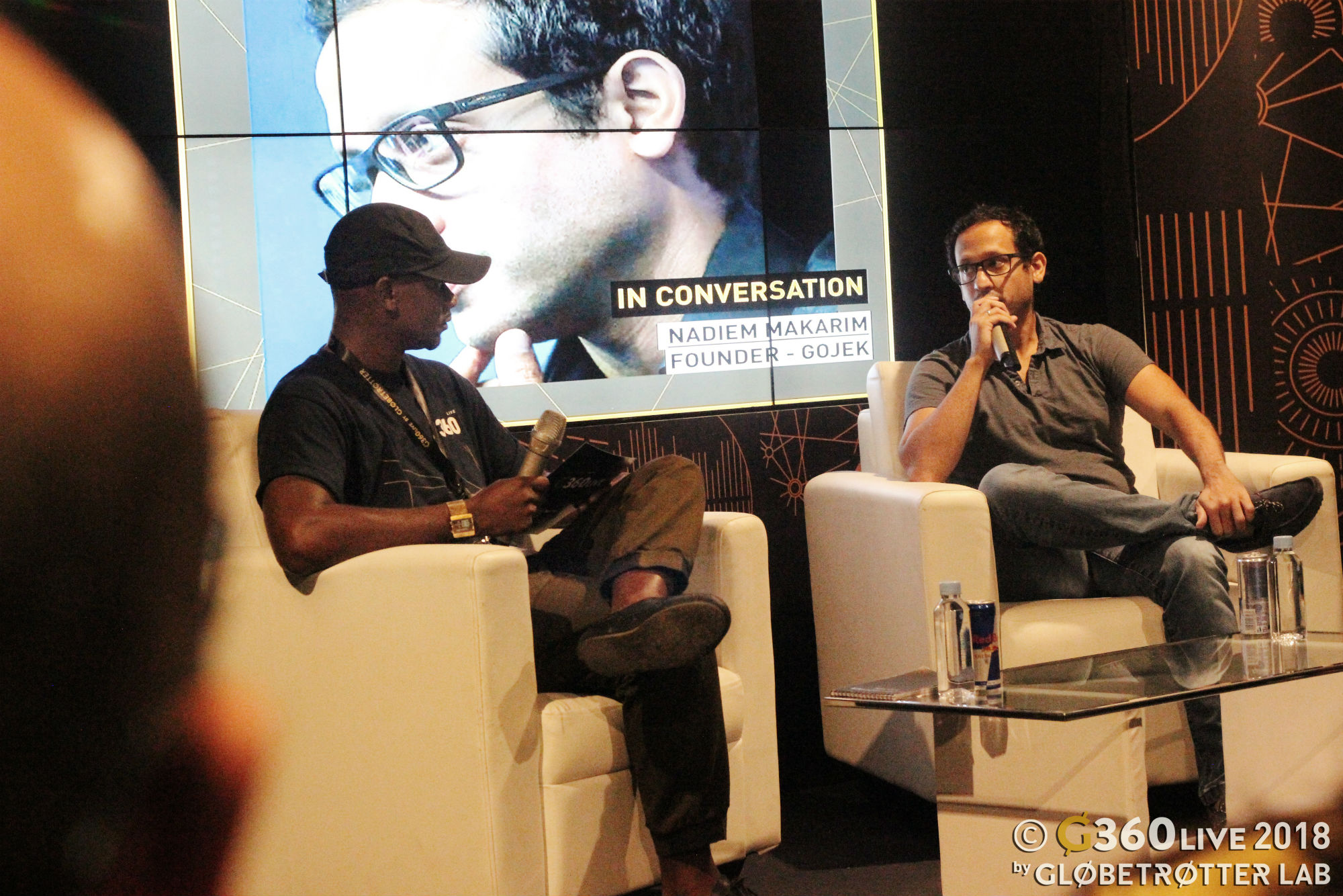 Kennedy Ashinze, Founder/Curator of Globetrotter Lab and G360 Live (Left) and Nadiem Makarim, CEO/Founder of Go-Jek Indonesia