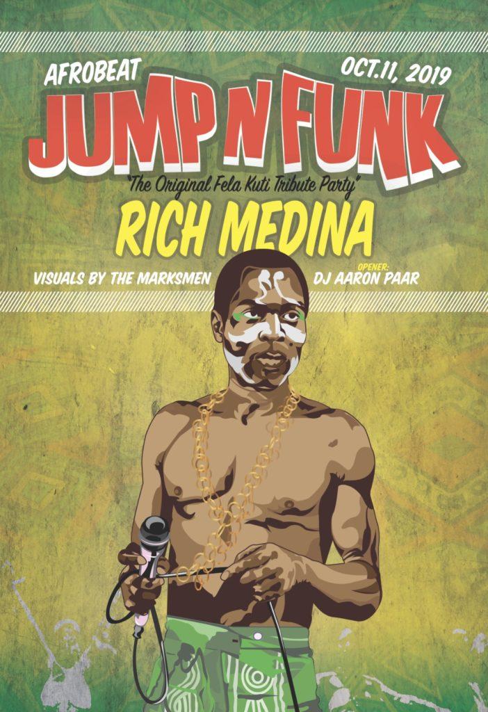 11 october 2019; jump n funk original fela kuti tribute party with rich medina; los angeles, usa; globetrotter magazine.jpg