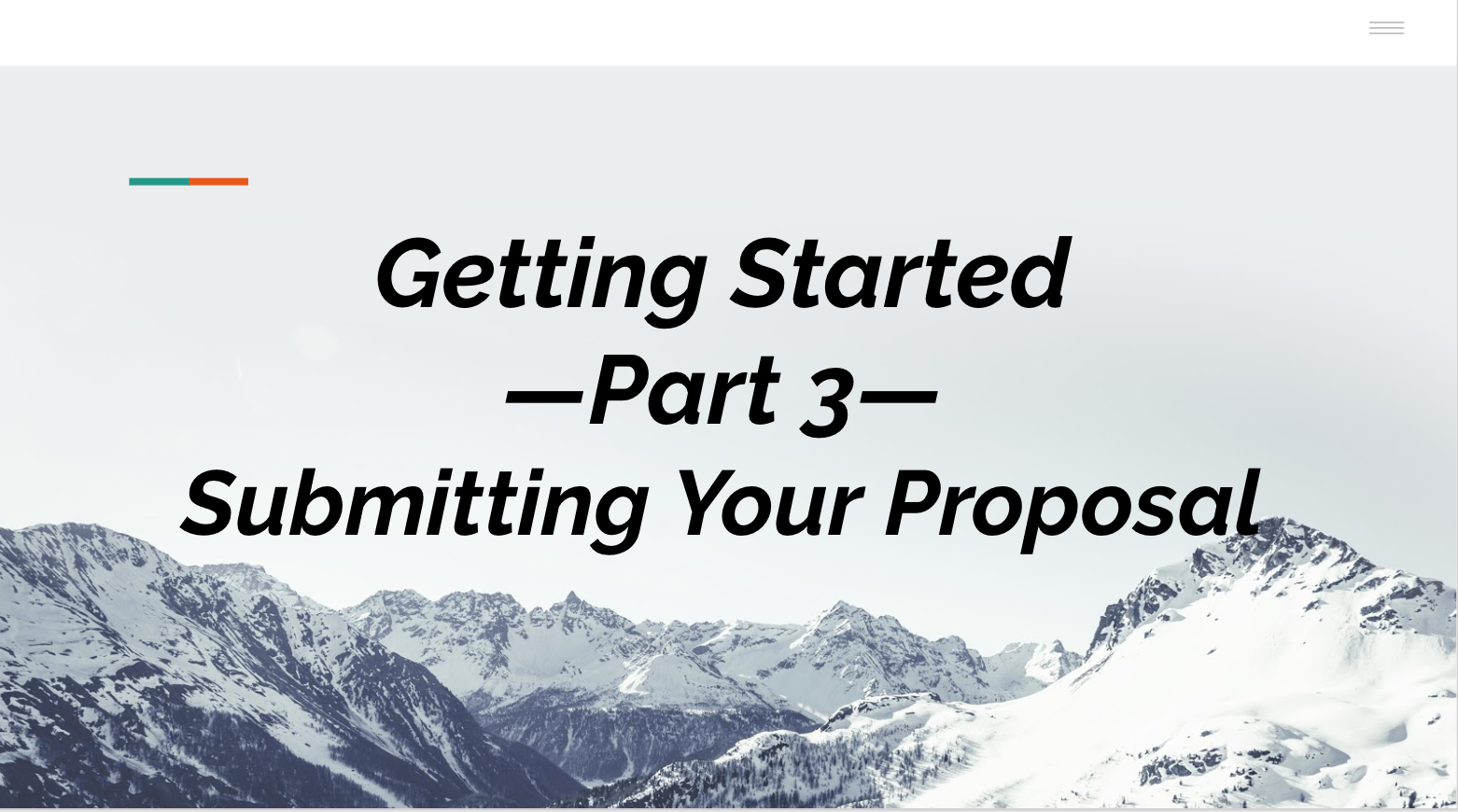 Part III: Getting Started