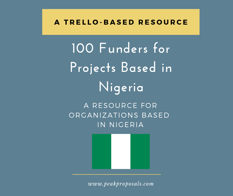 Nigeria Funder List