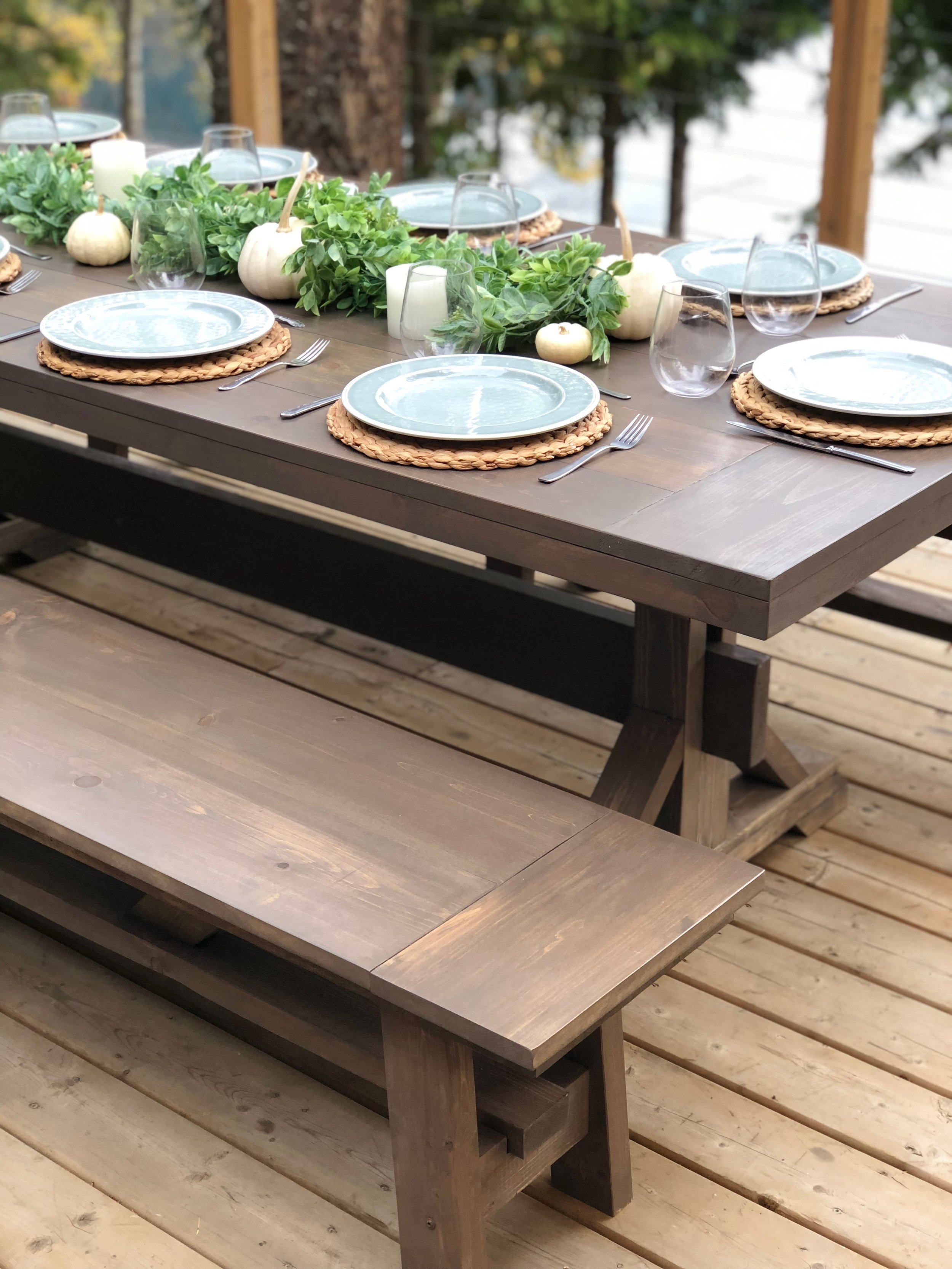 """Rates - For a 24 hour rental8' x 40"""" Trestle Table - $95/table8' x 14"""" Bench - $45/bench8' x 8' Pergola - First section: $550 (includes set up and take down, delivery is extra). Each section after that $350Delivery for a fee - please contact us for pricing.If a site visit is required, there will be a charge for site visits. Please contact us for pricing.Sorry, no pick ups on Rentals."""