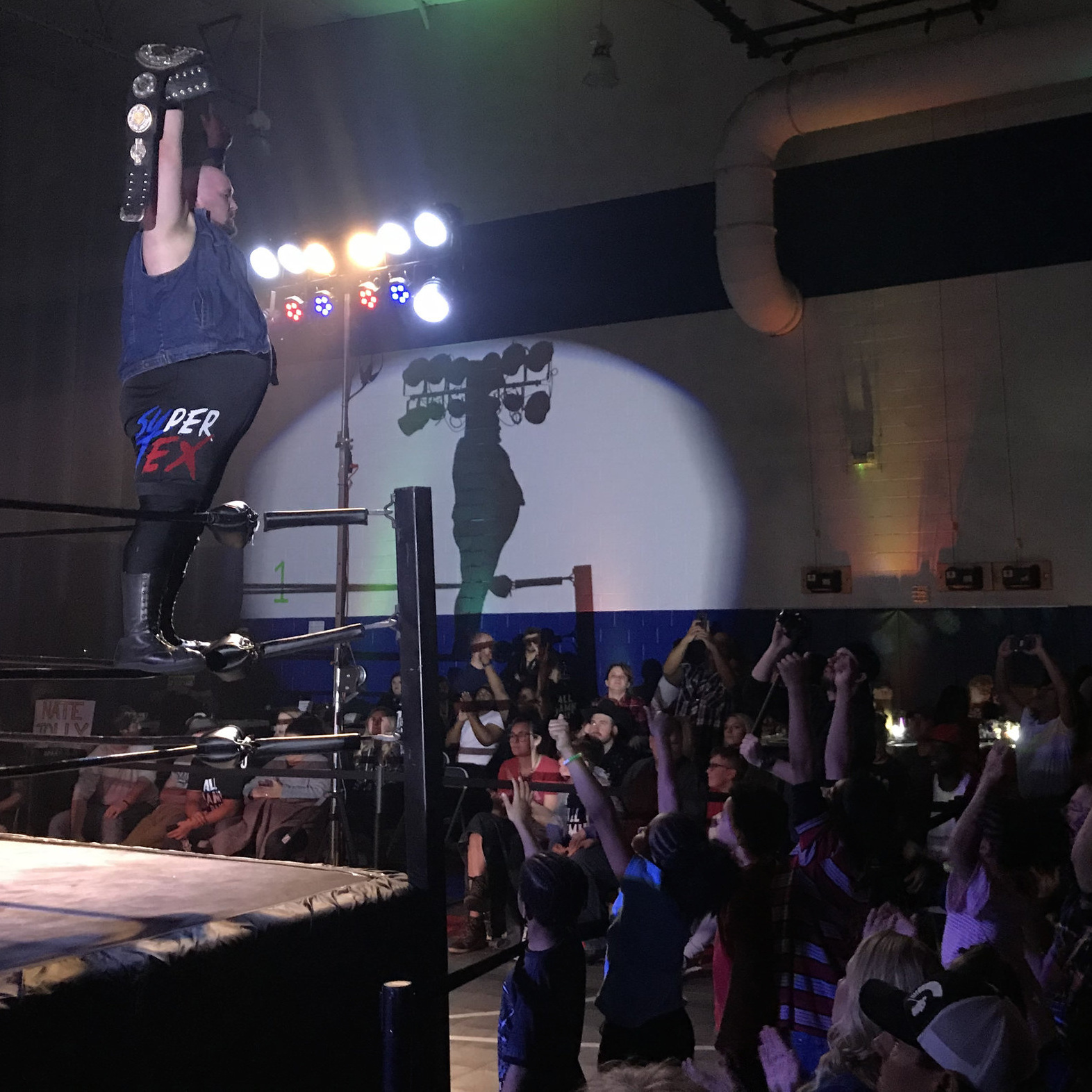 FEBRUARY 2, 2019 - Bell County-born and raised Brent McKenzie celebrates winning the 360 Championship in Killeen.