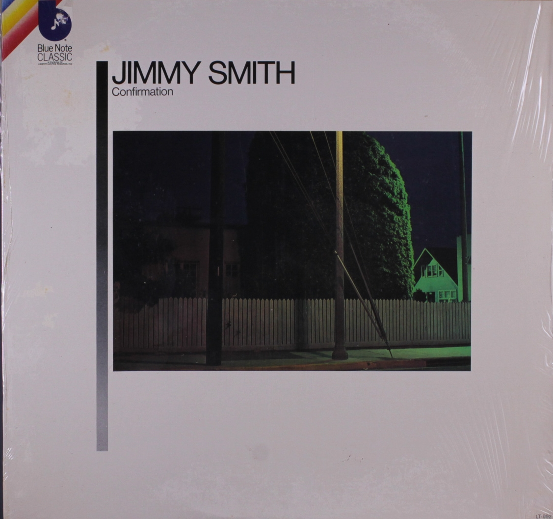 Griffith's photograph for Jimmy Smith's  Confirmation  (Blue Note LT 992)