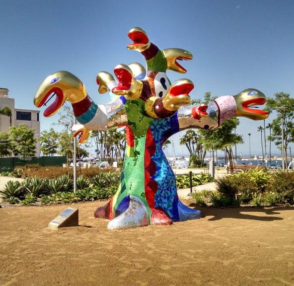 Niki de Saint Phalle's  Serpent Tree  (1999)