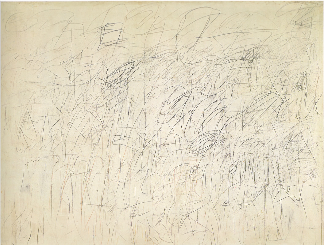 Cy Twombly's painting  Academy  (1955)
