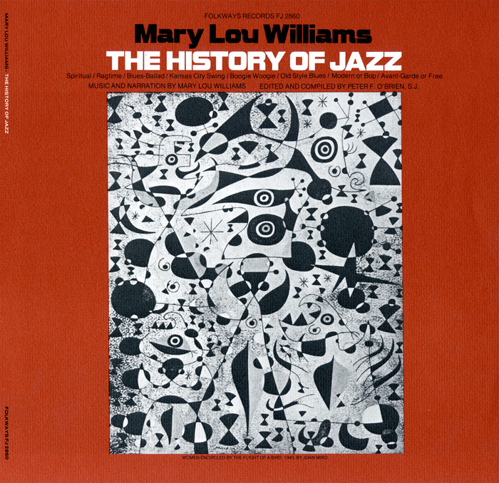 This edition of The History of Jazz featured Joan Miró's  Woman Encircled by the Flight of a Bird  (1940).