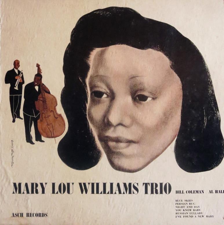 Martin's design for  Mary Lou Williams Trio , Asch Records, 1944