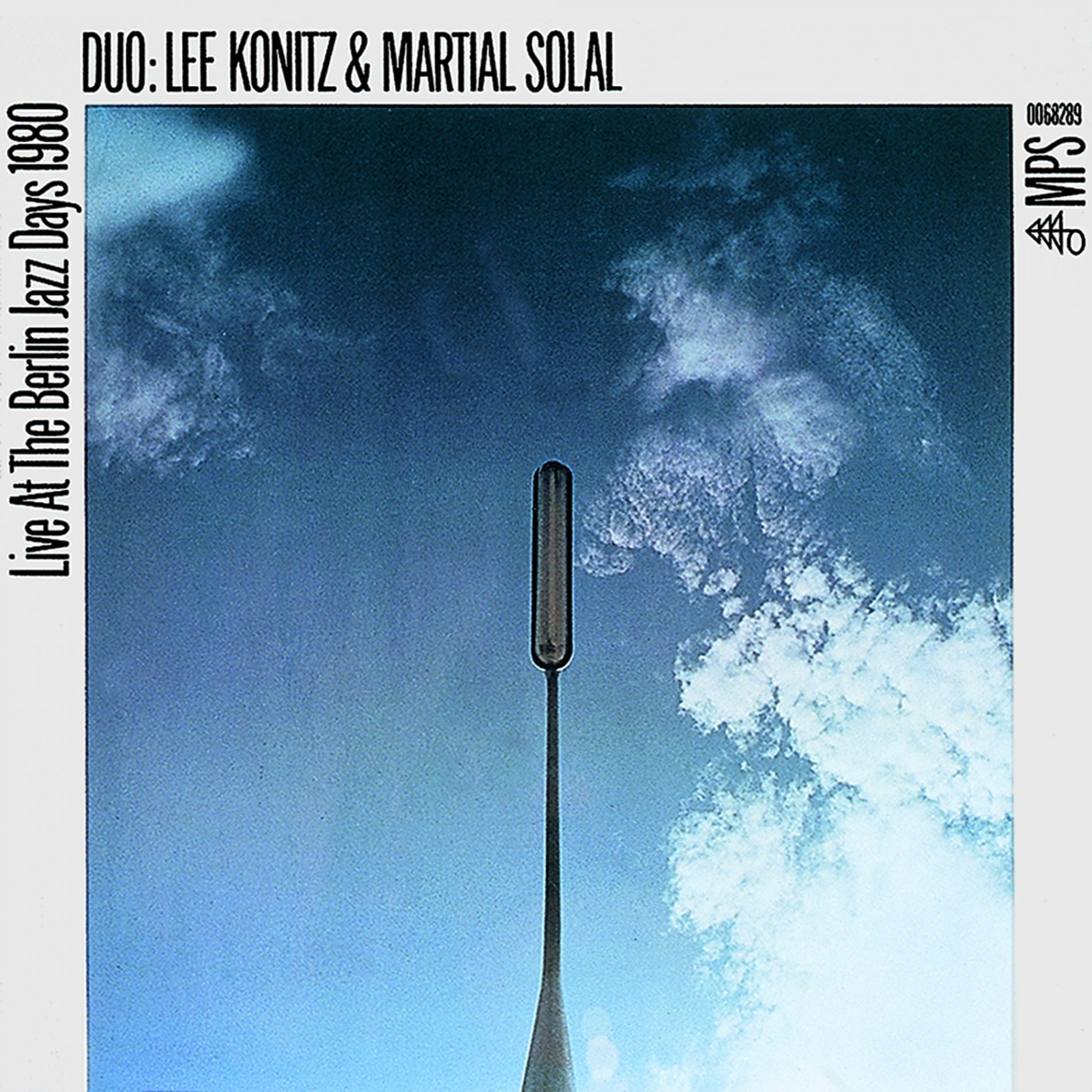 Grindler's design for Lee Konitz and Martial Solal,  Live at The Berlin Jazz Days 1980 , MPS Records, 1980