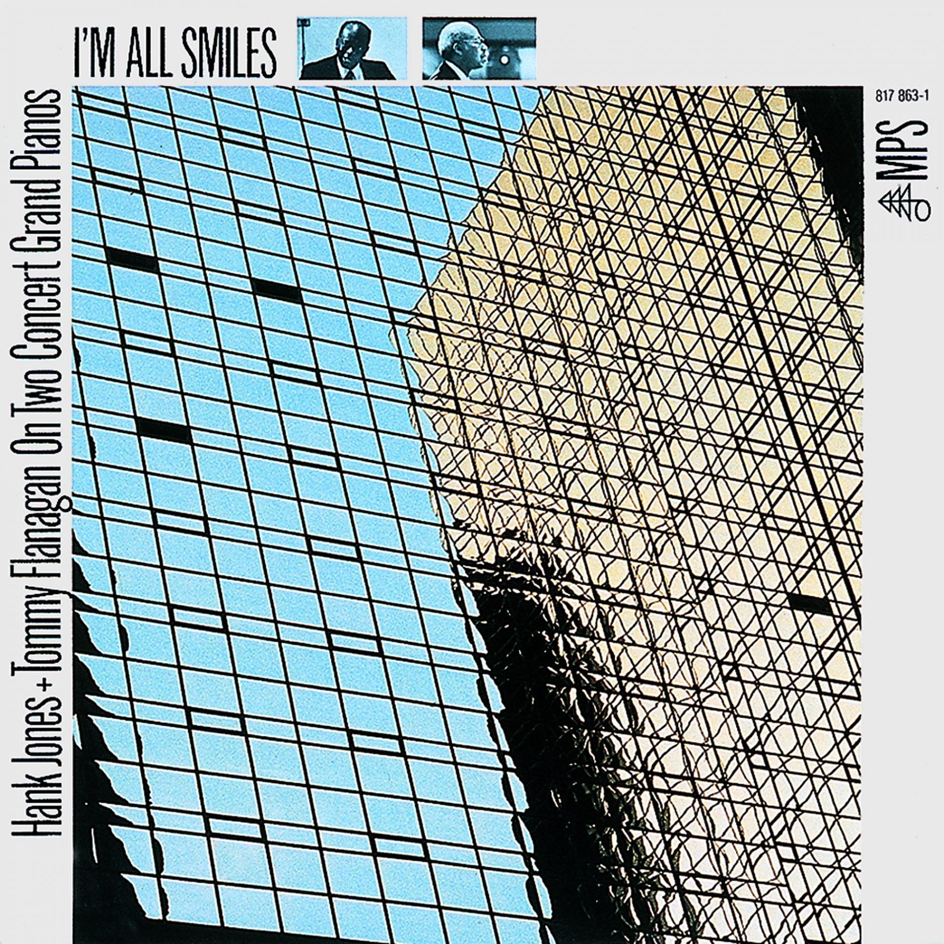 Grindler's design for Hank Jones and Tommy Flanagan,  I'm All Smiles , MPS Records, 1984