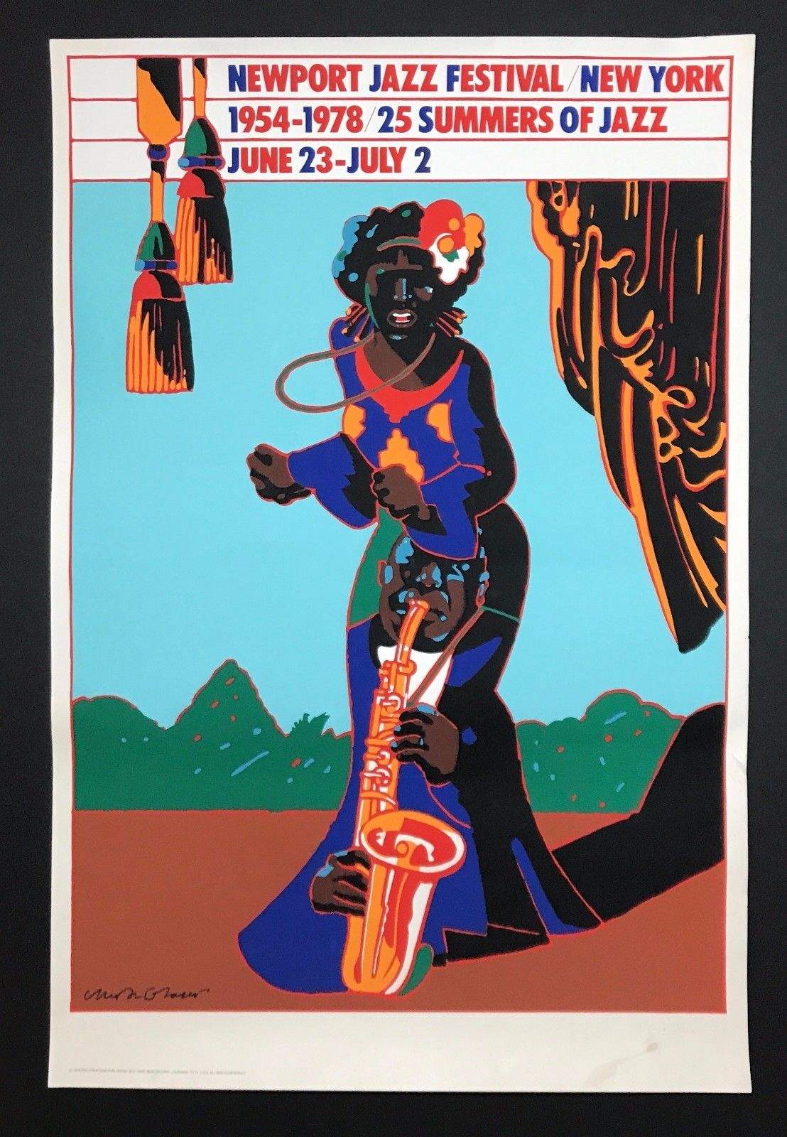 Milton Glaser, design for Newport Jazz Festival 25th Anniversary poster, 1978