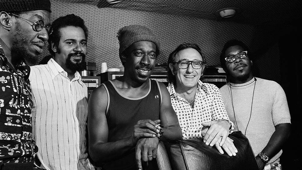 Freddie Robinson, Joe Sample, Blue Mitchell, Bob Shad and Herman Riley in 1973
