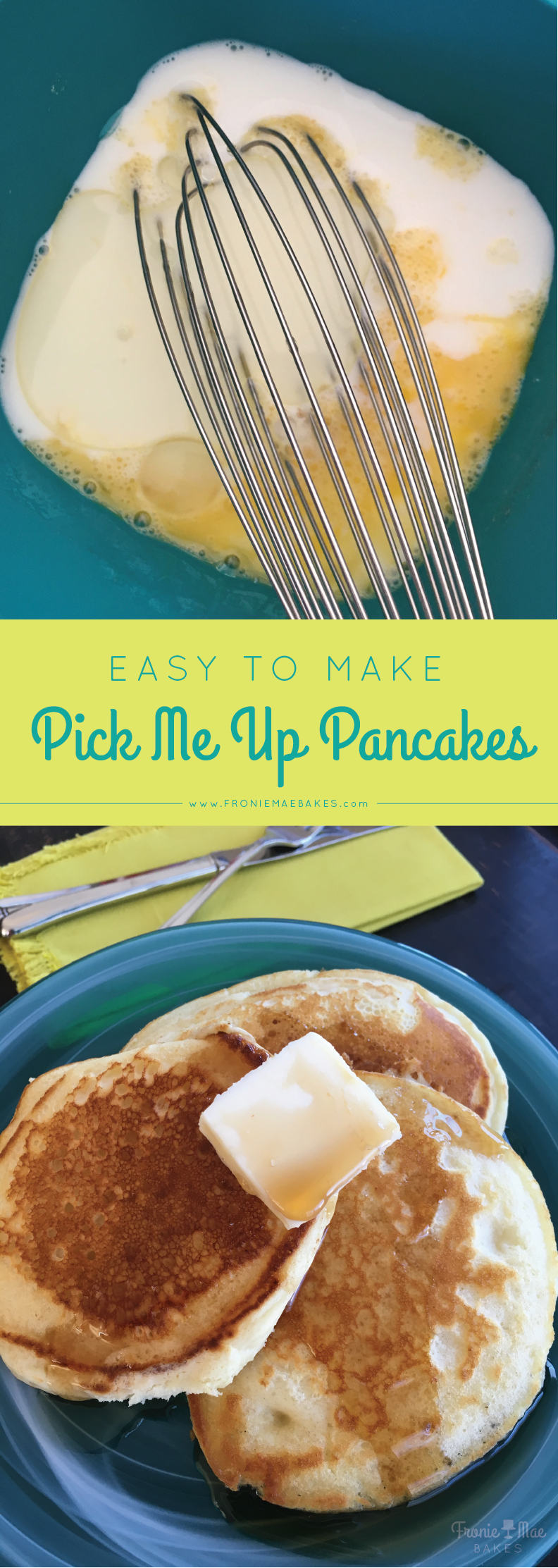 Delicious and easy to make Pick Me Up Pancakes by Fronie Mae Bakes. www.froniemaebakes.com