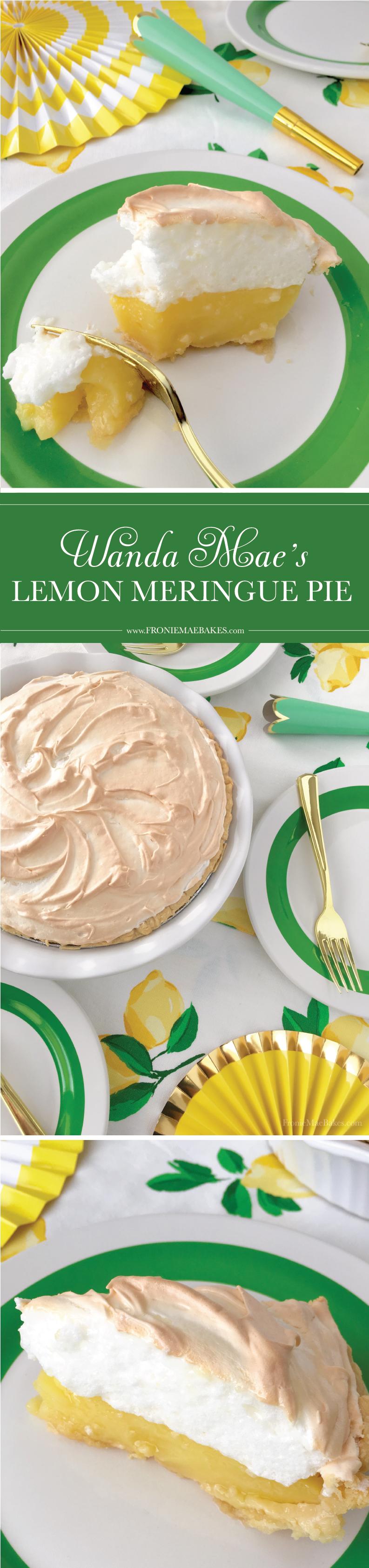 Make Wanda Mae's Homemade Lemon Meringue Pie Recipe TODAY! www.FronieMaeBakes.com