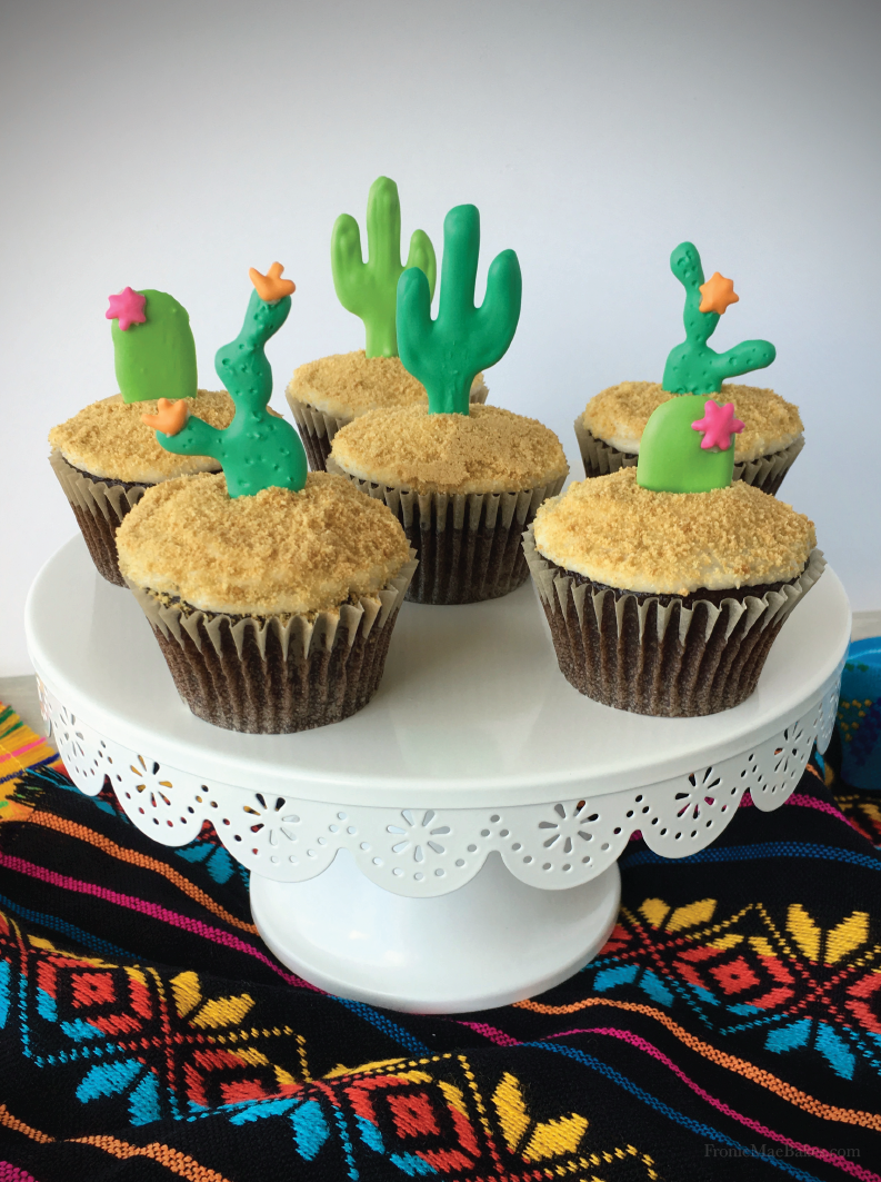 DIY Cactus Cupcakes with Free Printable Template by Fronie Mae Bakes