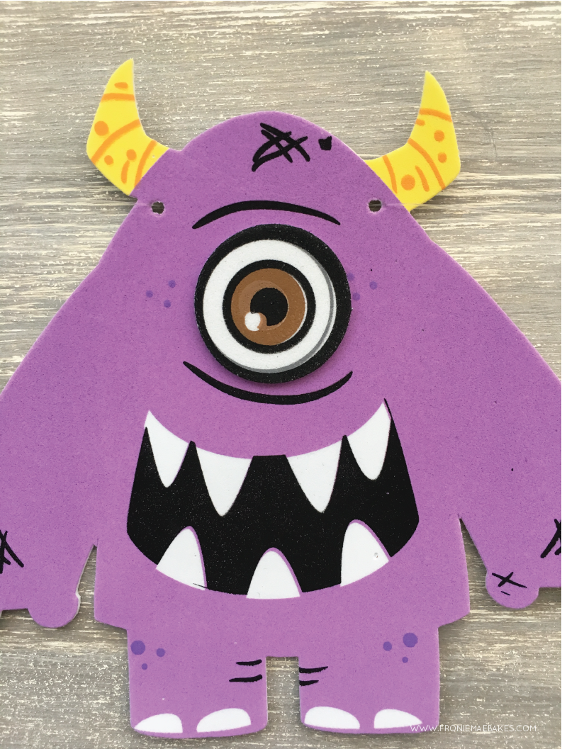 Step Two...Create this cute Monster Banner in a few easy steps. www.FronieMaeBakes.com