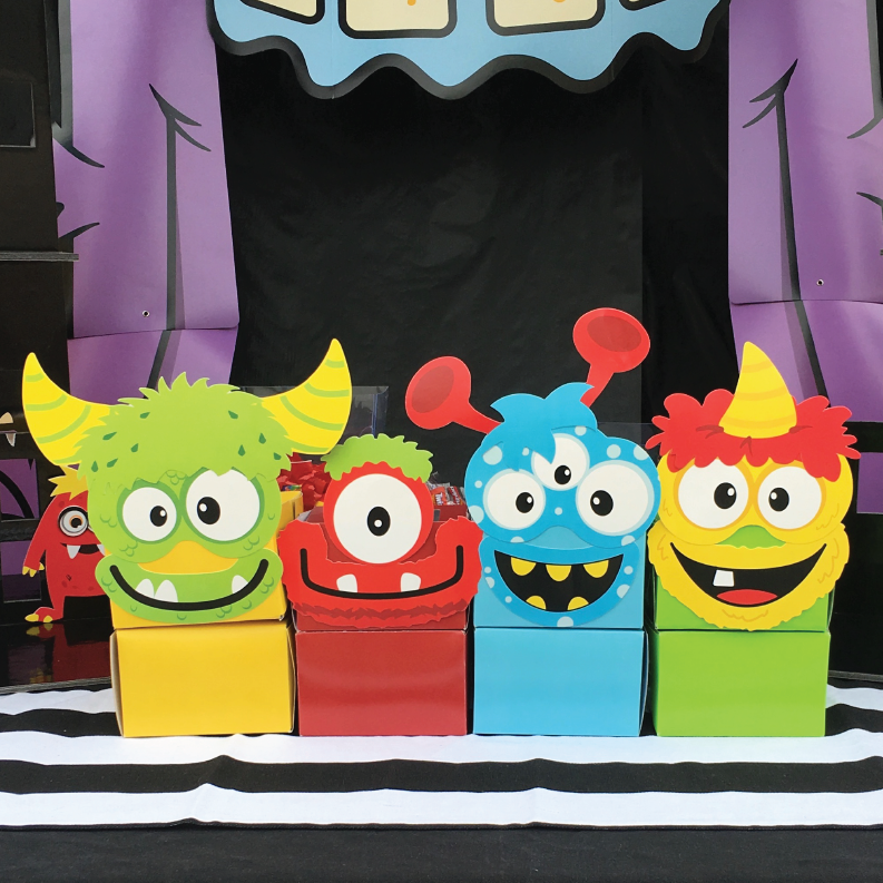 Create these fun and colorful monster cupcake boxes in just a few easy steps. www.froniemaebakes.com