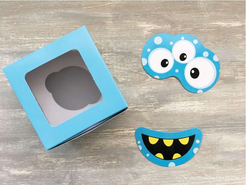 Step three...Create these fun and colorful monster cupcake boxes in just a few easy steps. www.froniemaebakes.com
