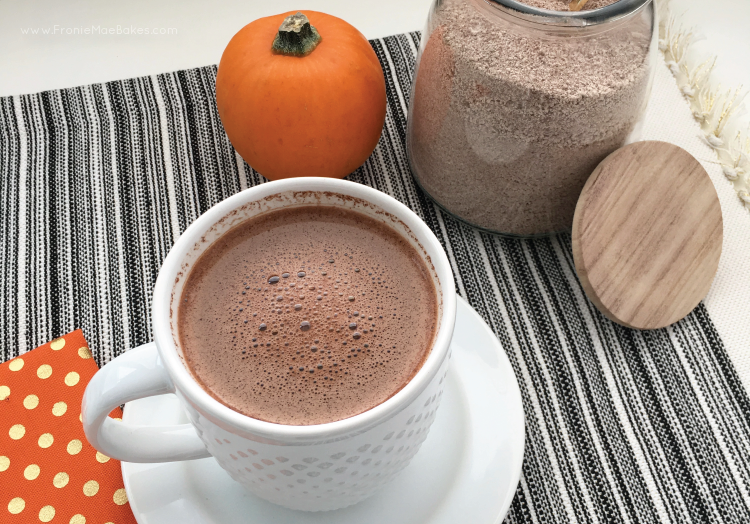 pumpkin-spice-hot-chocolate-mix-recipe-fronie-mae-bakes-homemade-easy-01.pngMake Your Own Pumpkin Spiced Hot Chocolate Mix this holiday season. Recipe featured on A Blissful Nest, by Fronie Mae Bakes