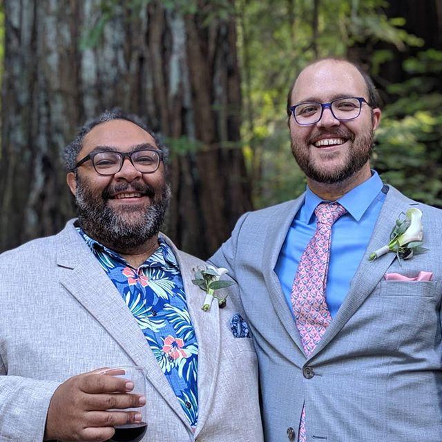So much fun and love last night at @thelatetrain @dkbehrens beautiful redwood wedding 😍