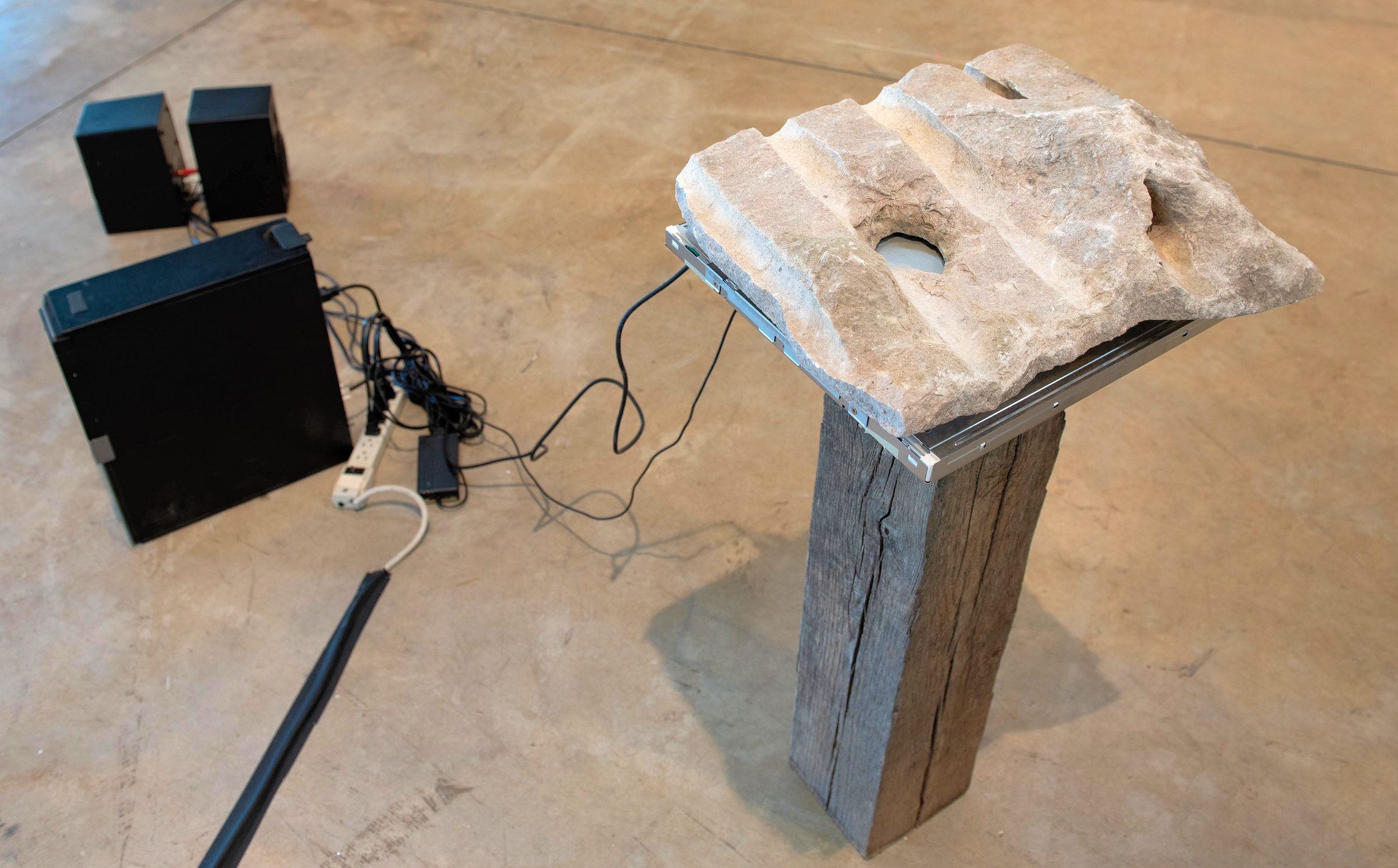 Utility Stone Jonathan Nowell Athens, GA Stone, wood, canvas 2018 Price upon request