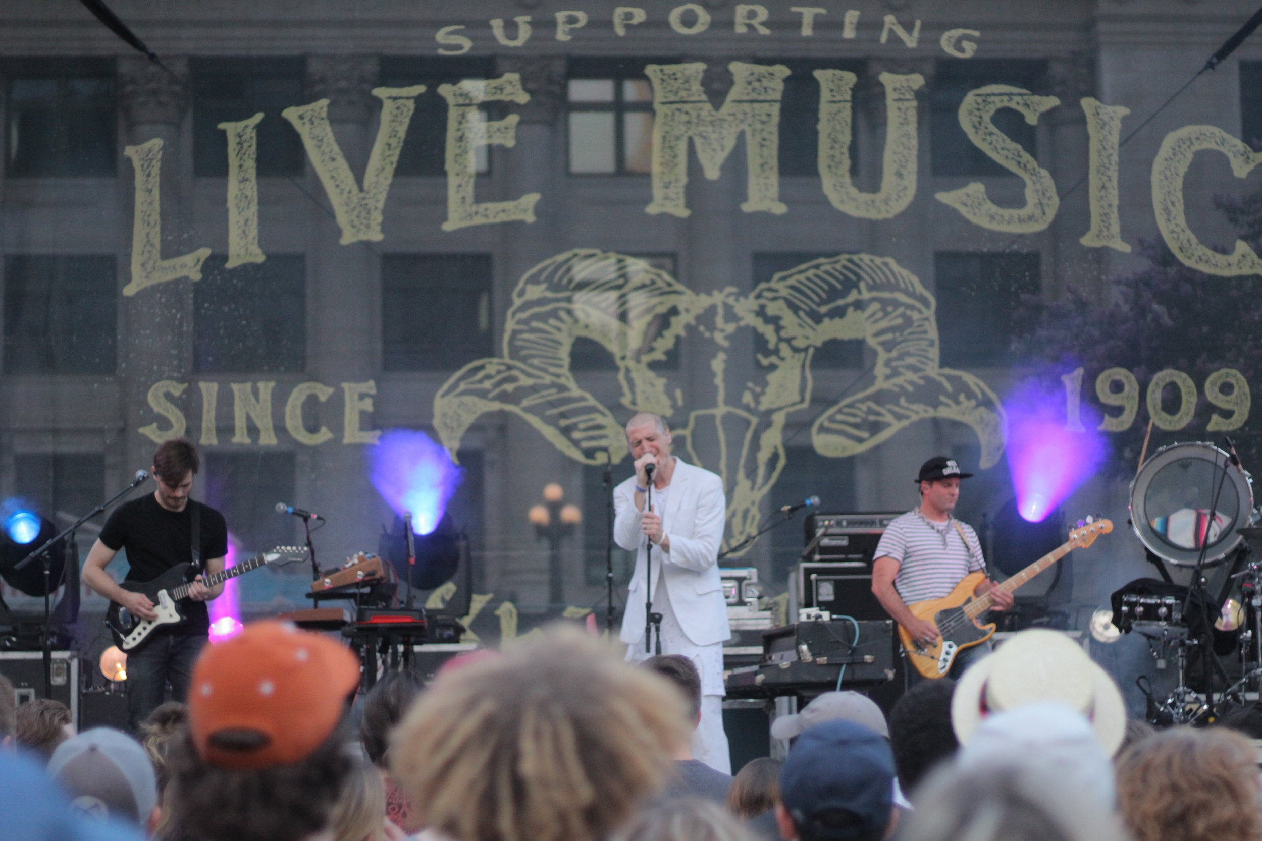 Mutemath performing at Homegrown Festival in downtown Dallas