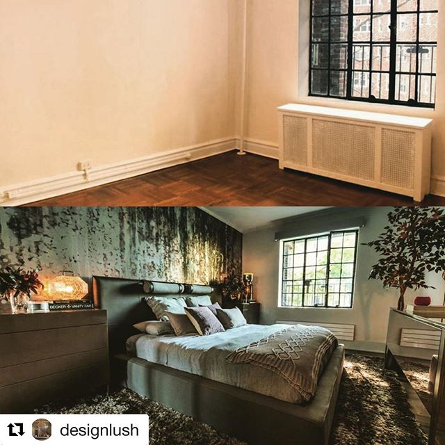 Awesome design job that I was privilege enough to be asked to capture in a photograph. Kudos @designlush its amazing work. ・・・ This is how we do it! Our client found our interior projects & products on our website & gave us a call. We did an on-site visit and a week later we were excited to get the call that he wanted us to do this beautiful prewar 2 bdrm in Washington Hts.  This is the master bdrm! All furnishing, lighting, wall coverings, media centers, & rugs r from our beautiful collection. We adored this project. D client was collaborative, open to suggestions and our relationship quickly became a fun, friendly creative project for all of us. To c more please go to http:designlush.com/interior-design-services/hudson-view-gardens/  For an  appt at our showroom or onside visit please call 212 542-5450 or email us at info@designlush.com photo: @benpetersonfilms #modernfurniture #modernfurnituredesign #moderninteriors #moderninterior #interiormodern #modernclassicinterior #beforeandafterinteriors #nydc #designlush #luxurylifestyle #luxuryinteriordesigner #washingtonheightsny #luxuryinteriordesignerslife