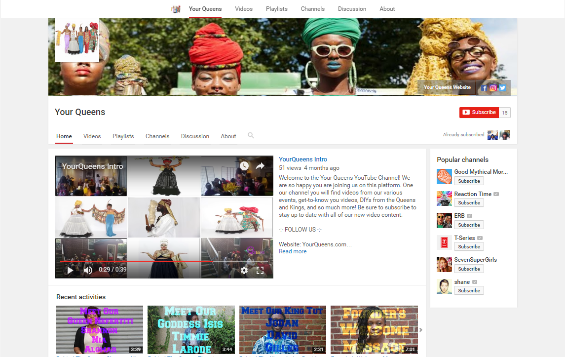 Click the photo to visit our YouTube page