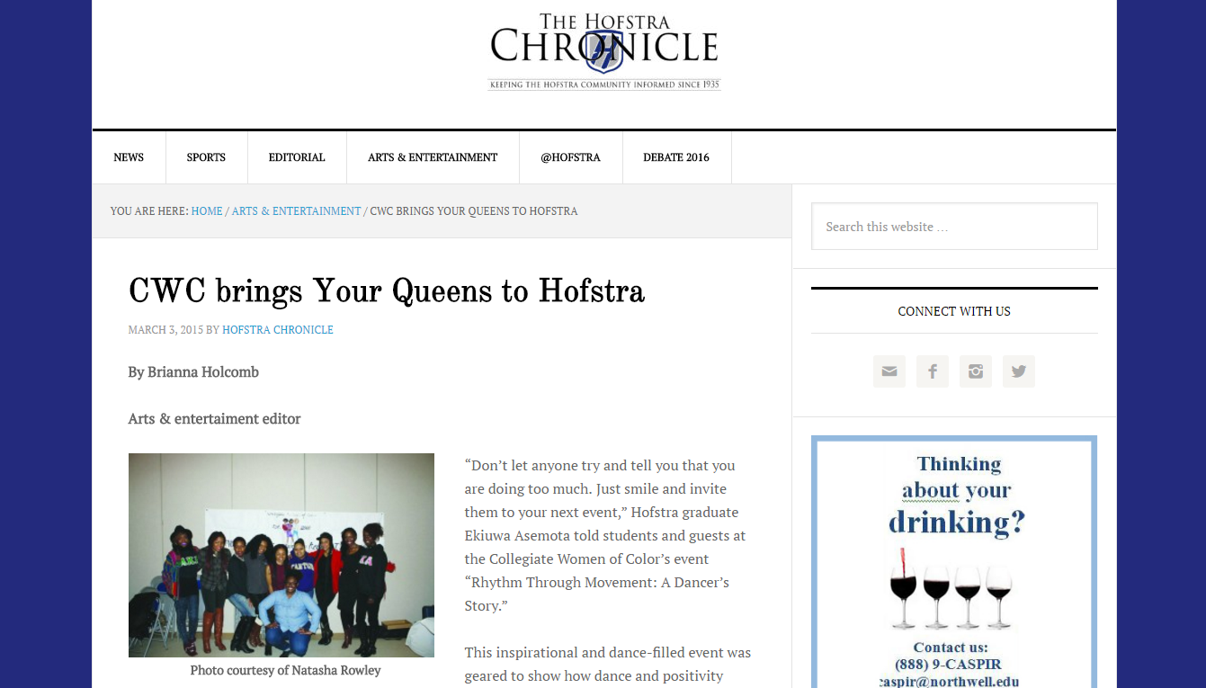 2015 | The Hofstra Chronicle