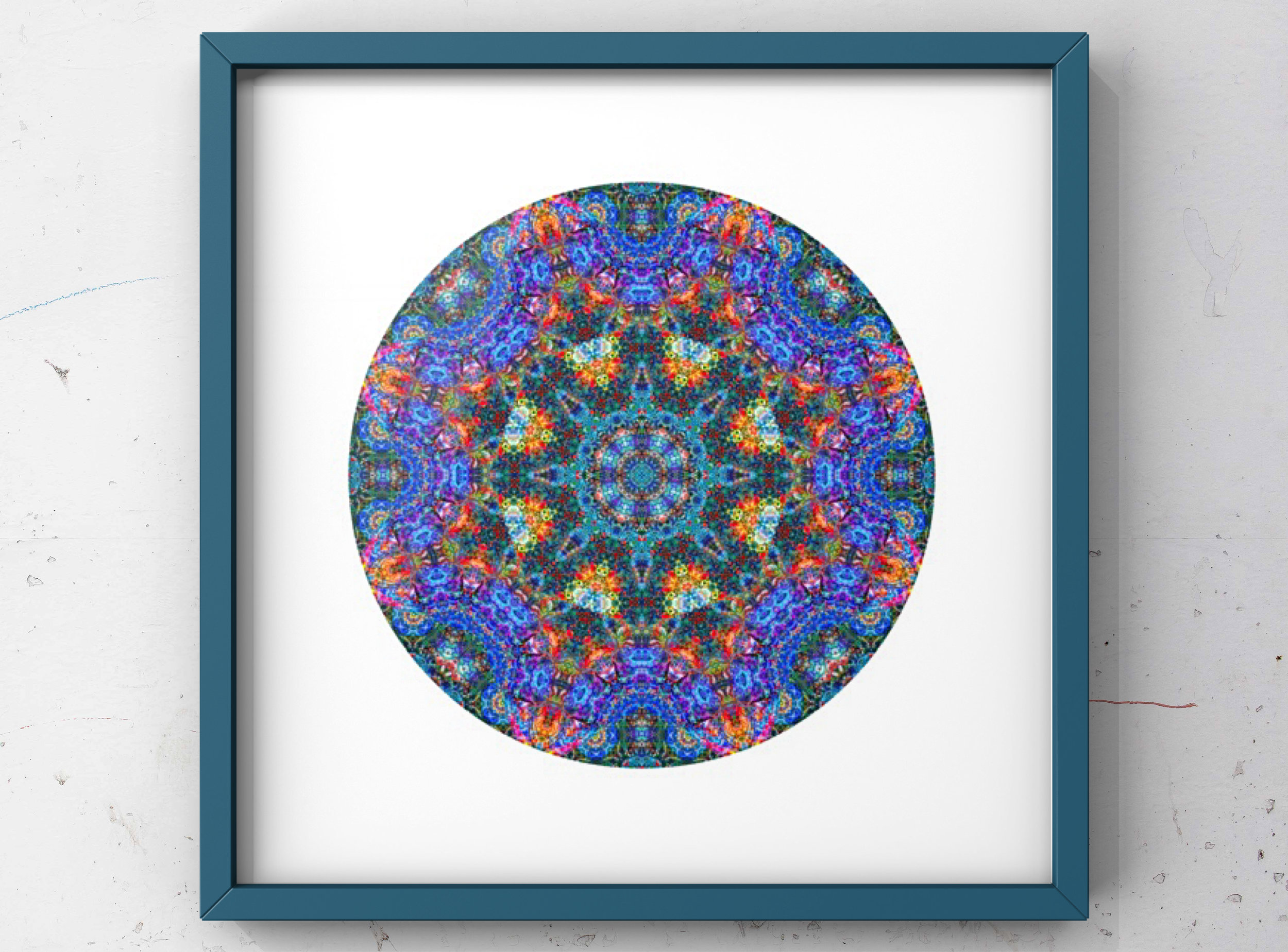 Parrot Fish Jungle M2    -  Modern Mandala Series inspired by the vibrant parrotfish found in Hawaii