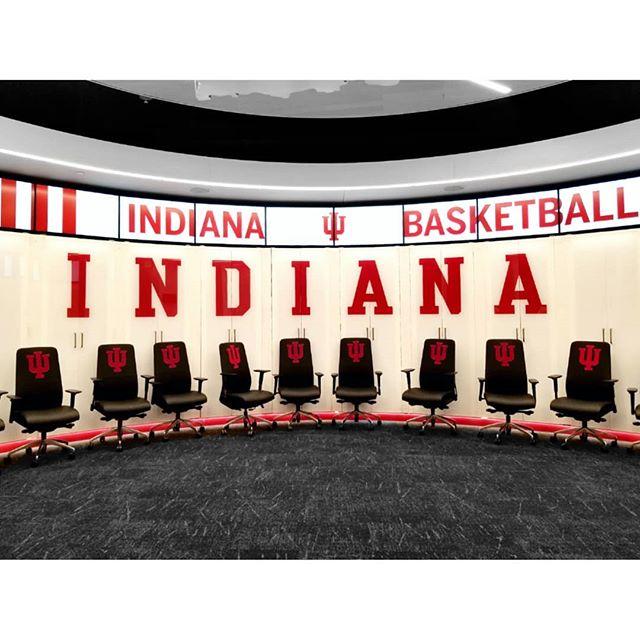 . The locker room. #cooliucolor #crimeandcrimson #iubasketball #lockerroom