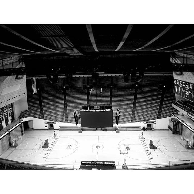 . Empty Assembly Hall. #iubasketball #verytop