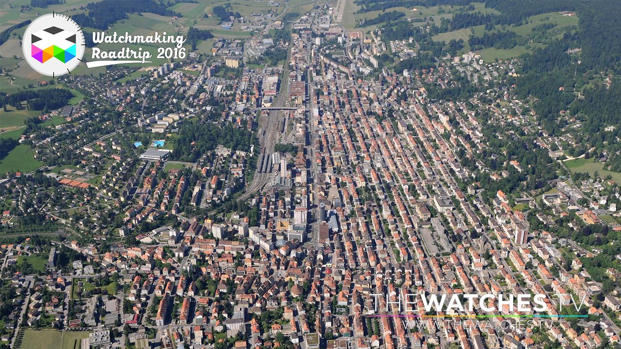 Aerial view of La Chaux-de-Fonds