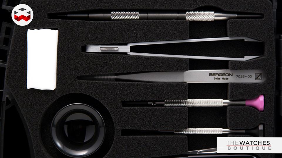 malette à outils Bergeon 7812 tool kit quick service werkzeug Tasche