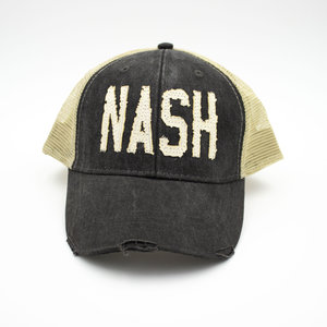 563c6de7 black nash nashville trucker hat collection project