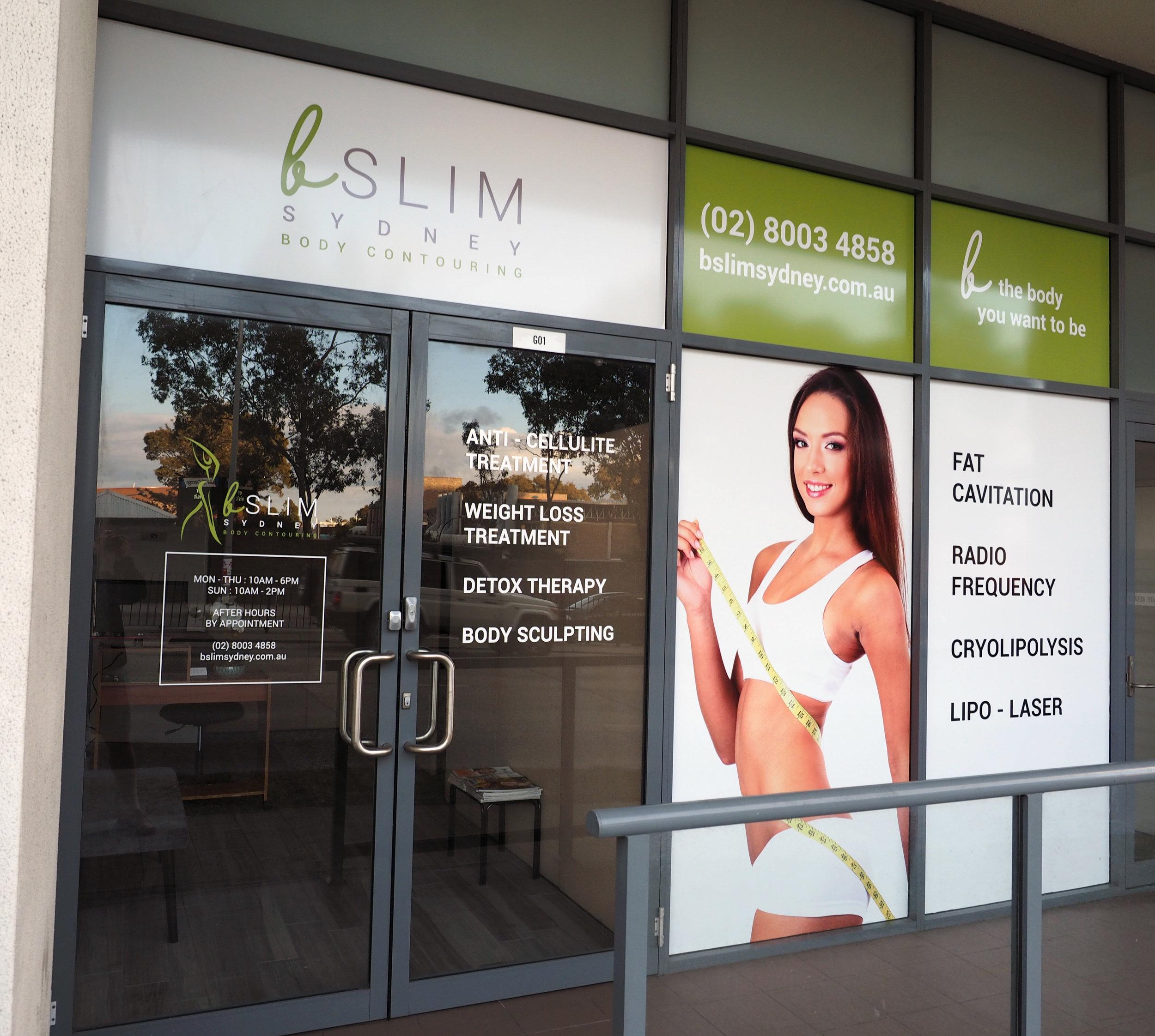BSlim Sydney: Front Window & Logo Design