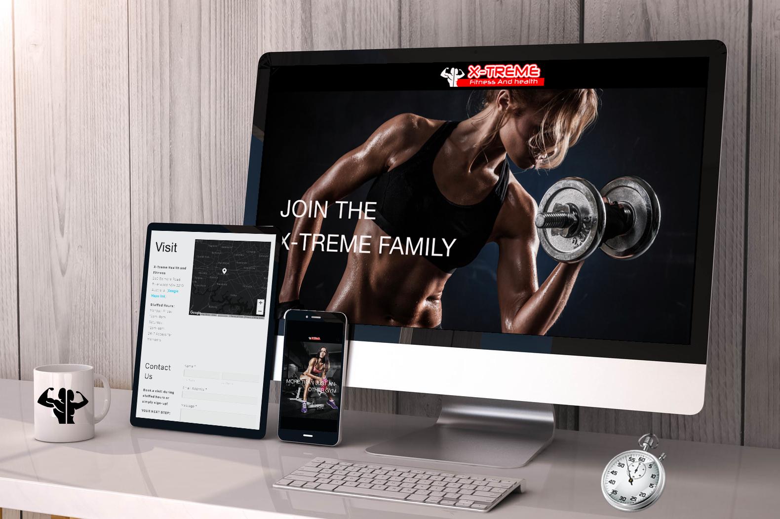 X-Treme Fitness: Website