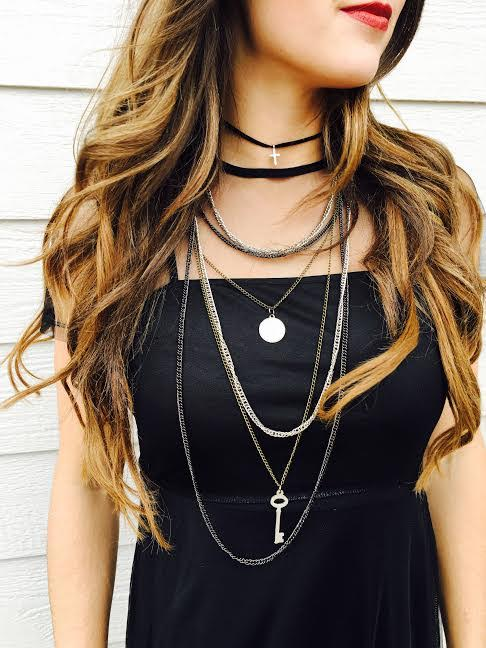 Velvet Charm Choker Set  &  Similar Charm Necklace