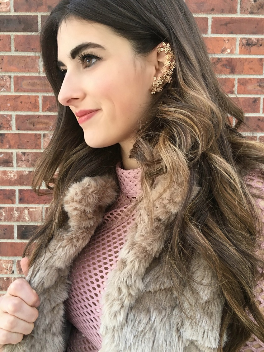 Forever 21 Floral Lace Bra &  Similar Forever 21 Ear Cuff