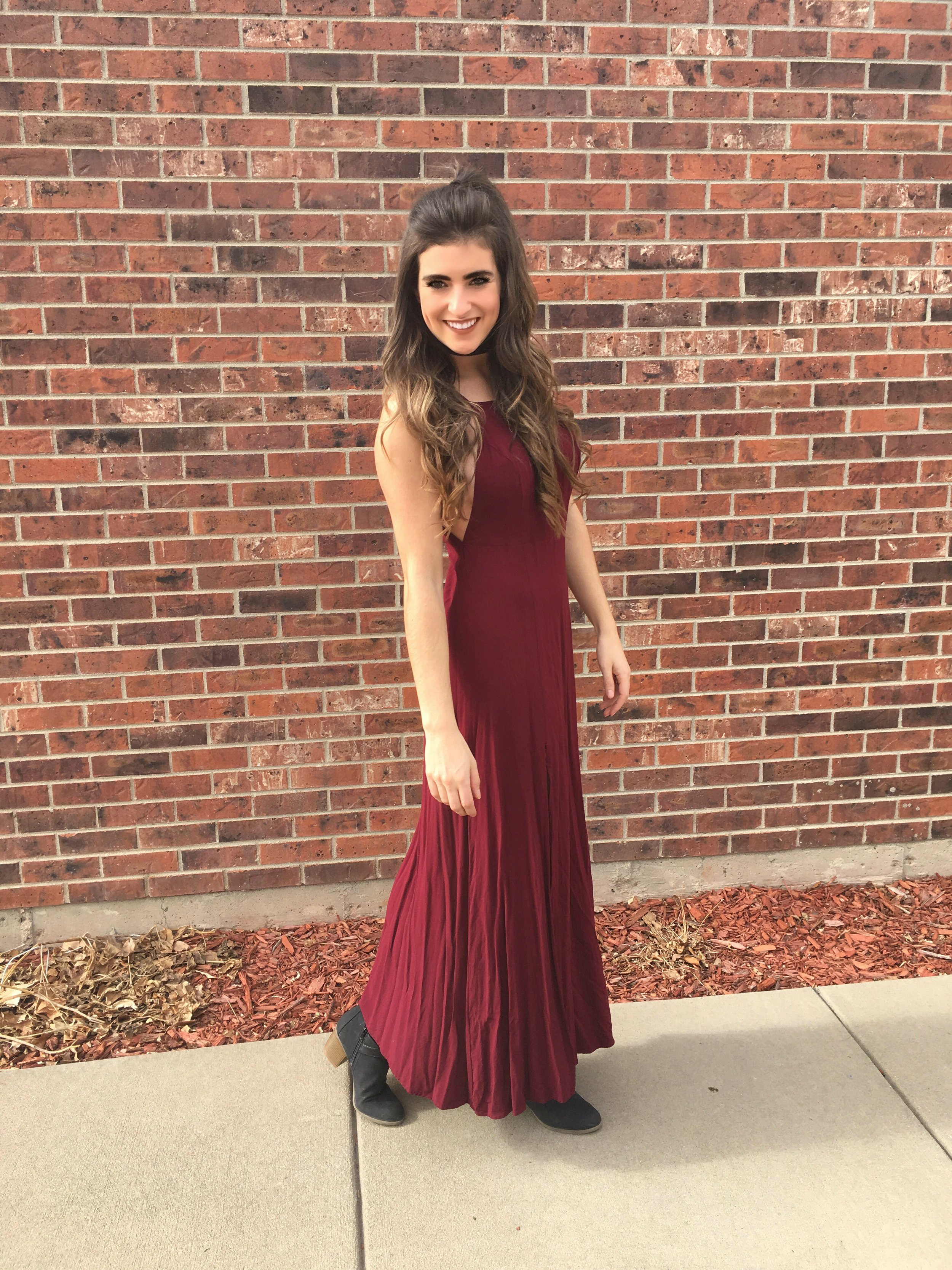 Mythical Kind of Love Wine Red Maxi Dress from Lulu's