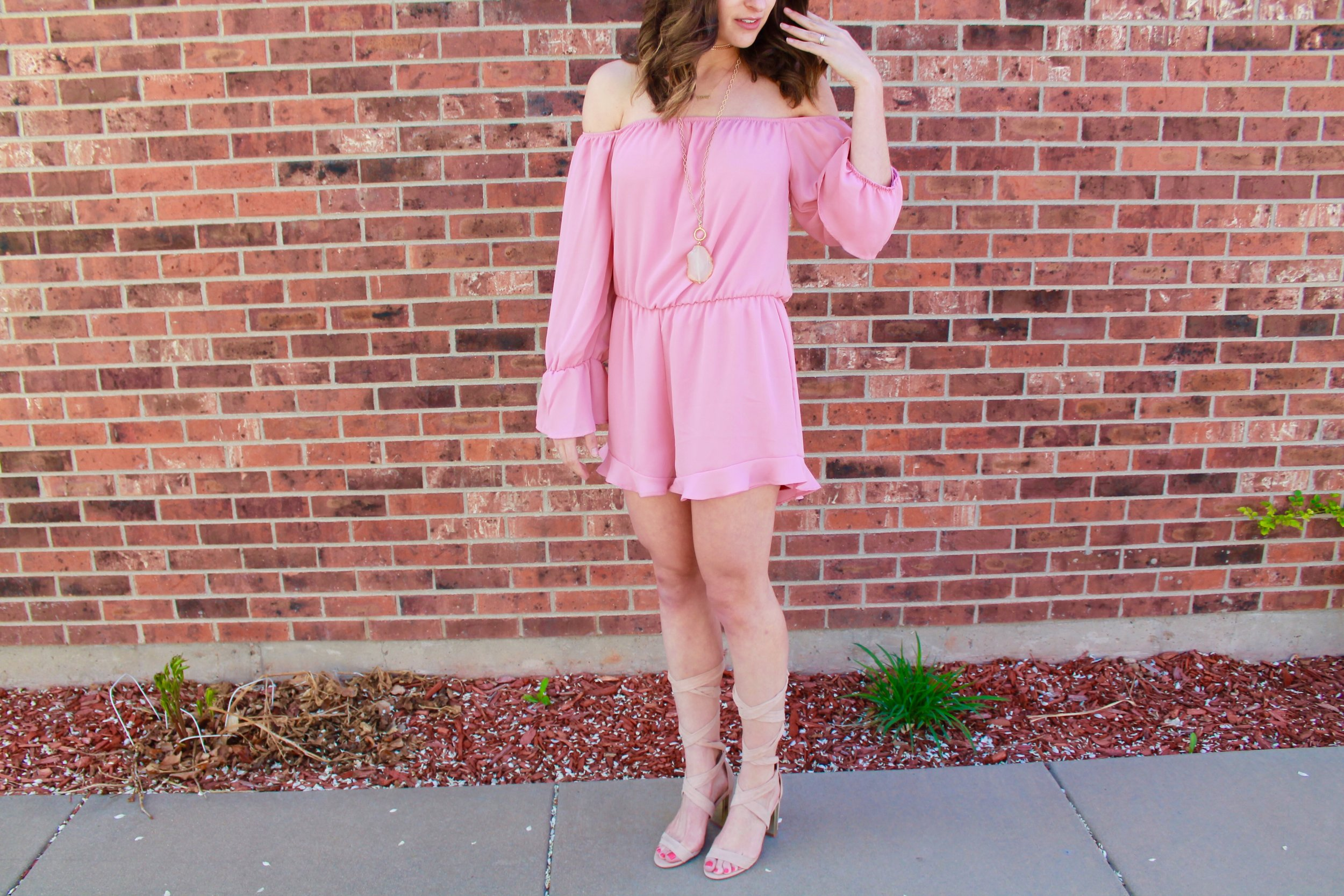 Peach Love California Romper from Scout & Molly's